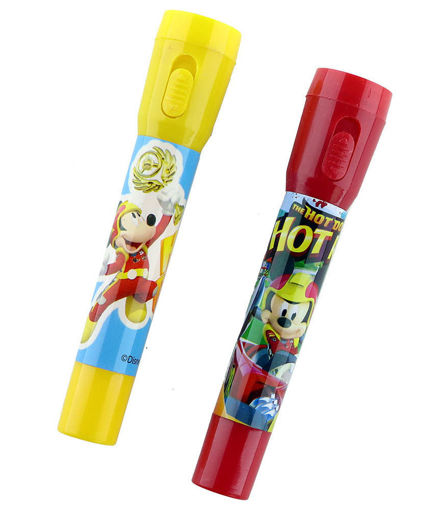"""Picture of Disney """"Mickey"""" Pens with Flashlight Red Yellow - Pack of 2"""
